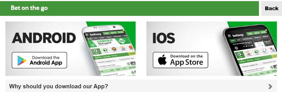 Betway app ANDROID IOS