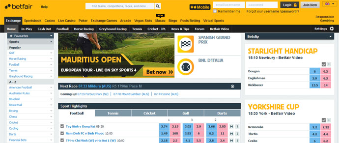 Betfair official company site